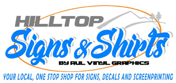 Hilltop Signs & Shirts/Aul Vinyl Graphic
