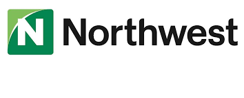 Image of the Northwest Bank logo with green symbol and black lettering on white background