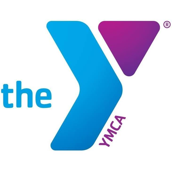 YMCA logo with purple and blue Y symbol and blue and purple lettering on white background