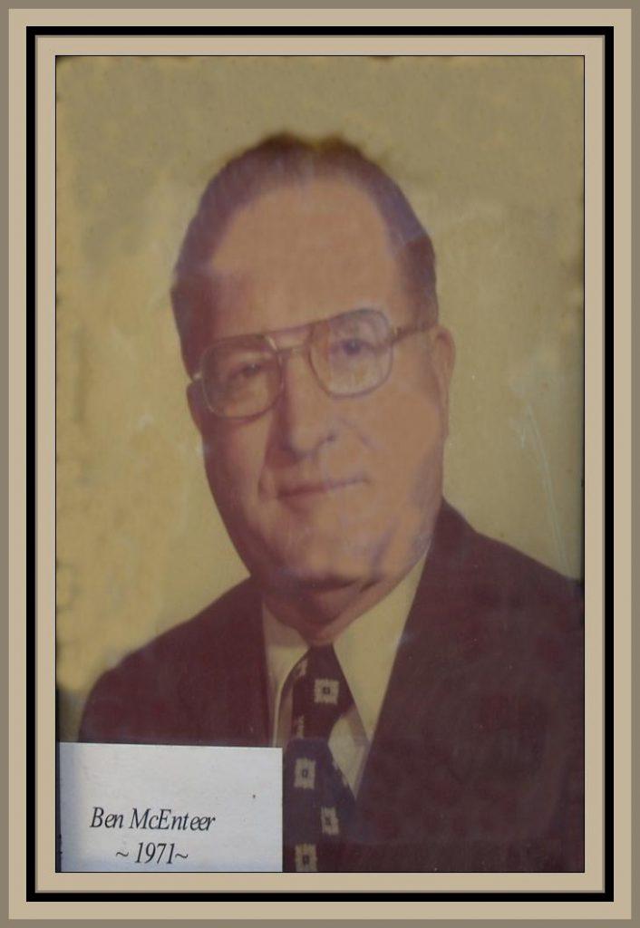 1971 Titusville Citizen of the Year-Ben McEnteer