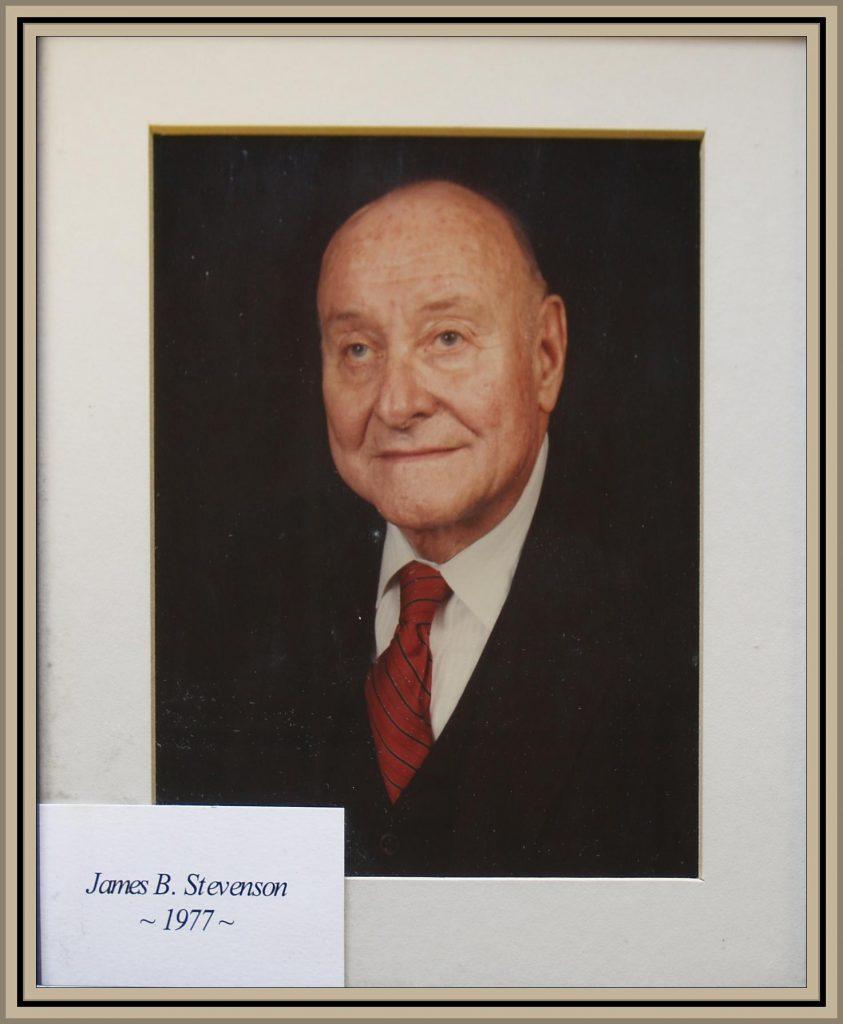 1977 Titusville Citizen of the Year - James B. Stevenson