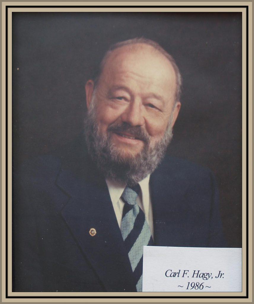 1986 Titusville Citizen of the Year - Carl F. Hagy
