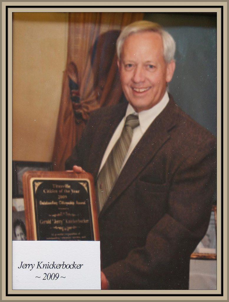 2009 Titusville Citizen of the Year - Jerry Knickerbocker