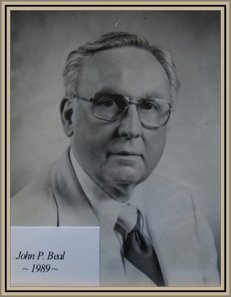 1989 Titusville Citizen of the Year - John P. Beal